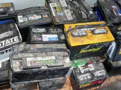 Used Car Batteries Recycling