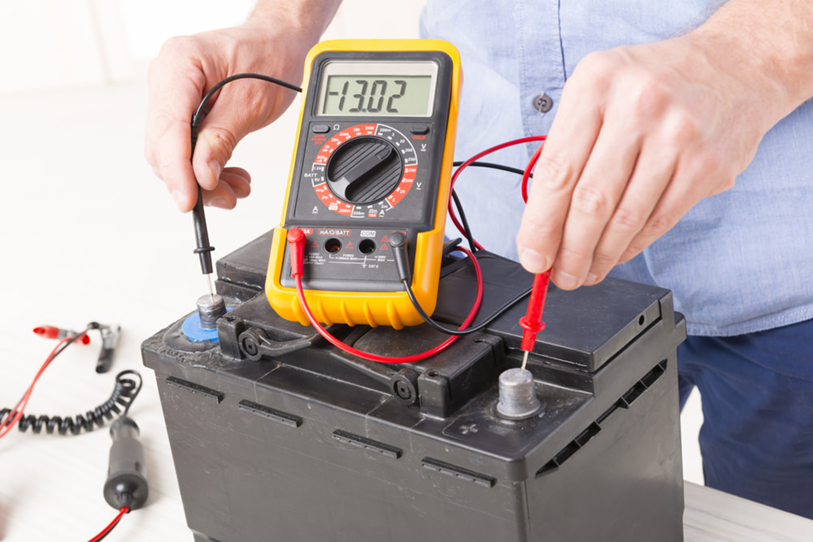 car battery voltage too high and too low causes